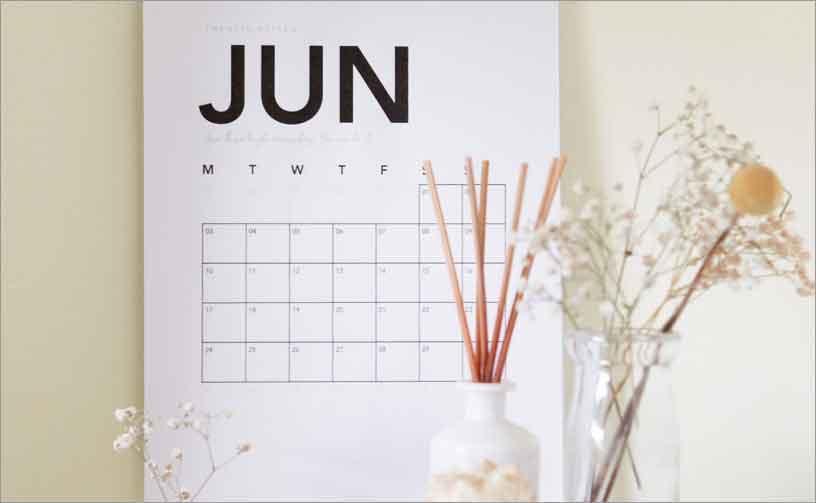 Hindu Calendar 2020 with Tithi